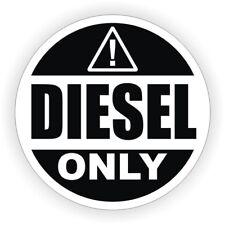 2-inch DIESEL ONLY Weatherproof Vinyl Decal | Fuel Tank Gasoline Sticker Label