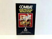 Combat Atari MANUAL ONLY Authentic Insert