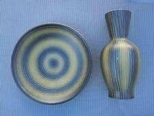 Vase graphisme minimaliste plat céramique de St Clément France vers 1950
