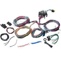 Universal 12 Circuit Wiring Harness Wire Hot Street Rod For Chevy Wiper A/C