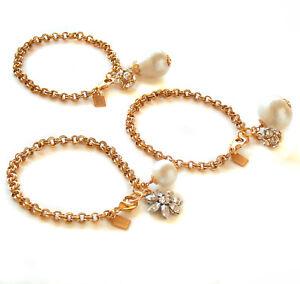 John Wind Bracelet Gold Chain Crystal Cotton Pearl Charm Maximal Art Jewelry