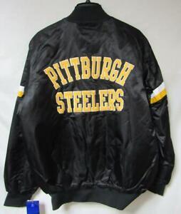 Pittburgh Steelers Mens Size Medium - 3X-Large Snap Front Starter Jacket B1 422