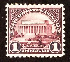Kappysstamps Scott 571 $1.00 Lincoln Memorial Xf-S Mint Hinged Remnant (15552)