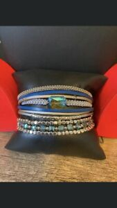 Feb'21 PAPARAZZI Jewelry BLUE IRIDESCENT OIL SPILL Set#2 BRACELETS Urban&Stretch