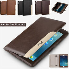 For iPad 10.2 7th/9.7 6th 5th/Air 2 Case Smart Retro Leather Folio Stand Cover