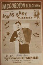 Partition ancienne-ROCK DE JONAS BABY Musique de: E.BASILE