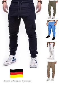 Herren Hose Chino Hose Cargohose Jogginghose  Crotch Jogger Chino Neu SportJeans
