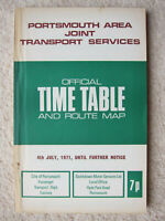 Portsmouth Area Joint Transport Services: Bus Timetable (and route map) 1971