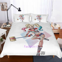 Single/Double/Queen/King Size Bed Doona/Duvet/Quilt Cover Set Harley Quinn White