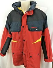 MENS NORDICA SKIING CAMPING HIKING SNOWBOARDING JACKET SIZE L BLACK RED