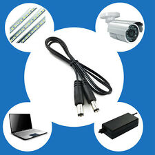 DC Power Plug Male To 5.5 x 2.1mm Male CCTV Adapter Connector Cable 1M 39''