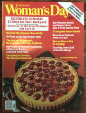Woman's Day July 10 1978 magazine issue vintage recipes sewing projects recipes
