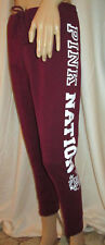 Victorias Secret PINK Nation Logo Gym Sweat Pants Maroon Slim Cut Med NWT