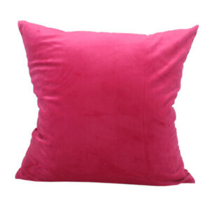 CURCYA Velvet Throw Pillow Cover Solid Plain Sofa Pillows Cushion Case Big Large