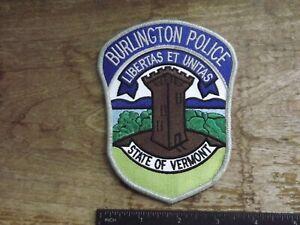 Burlington, VT Police Patch