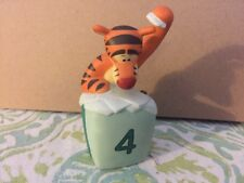 Pooh & Friends Disney Tigger 4th Birthday Ceramic Figurine Cake Topper