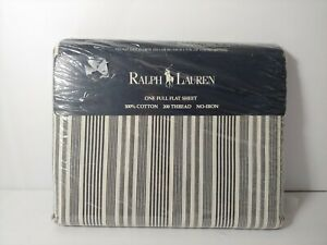 Vintage 1994 Ralph Lauren Home collection. Urban striping black cream.