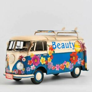 Retro/Vintage 1:12 Scale VW Decorative Bus / Truck - Tin - Metal - Blue- NTK-502