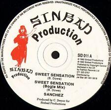 "SANCHEZ sweet sensation SID 011 uk sinbad productions 1992 12"" CS EX/EX"