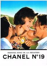 PUBLICITE ADVERTISING   1992   CHANEL  N°19   parfum
