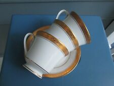 "NORITAKE ""Legendary"" 3 cups/2 saucers, mint condition, classic elegant design!"
