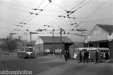 Rotherham trolleybus No.3 passes Mexborough & Swinton Rawmarsh Depot Bus Photo