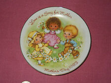 Vintage 1983 Mothers Day Plate Avon Love Is A Song Porcelain Collector Plate ^