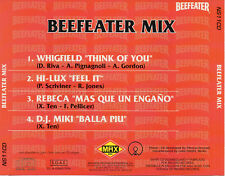 "REBECA -  WHIGFIELD - HI LUX - DJ MIKI ""BEEFEATER MIX"" RARE SPANISH SHAPE CD"