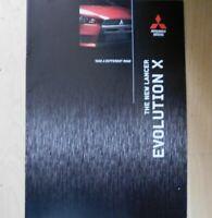 Mitsubishi Lancer Evolution X Brochure 2008, 2009 & 2010 ( Evo X / Evo 10 )