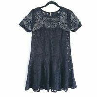 Free People Sheer Lace Dropwaist Dress Size XS