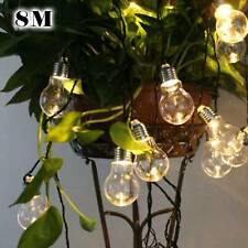 8M Weatherproof Globe String Festoon Lights  Clear Bulbs  Indoor Outdoor