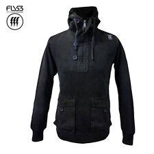 Sudadera con capucha con capucha FLY53 para hombre Grinch Negro (S) - Nuevo/Etiquetas-RRP £ 70-Ahorre 70%