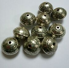 TIBETAN ROUND ANTIQUE SILVER BEADS-BEADING FOR CRAFTS AND JEWELLERY MAKING