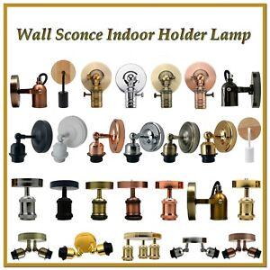 Vintage E27 Industrial Wall Lights Bedside Sconce Indoor Holder Lamp Fixture UK
