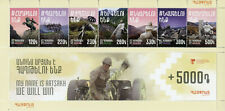 More details for armenia military stamps 2020 mnh insurance foundation servicemen 7v m/s + coupon