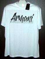 Armani Exchange White Black Logo Cotton Short Sleeve Men's T-Shirt Size XL NEW