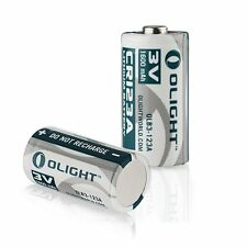 2 PCS Olight CR123A 3V 1600mAh High Performance Lithium Battery Non-rechargeable