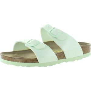 Birkenstock Womens Sydney Green Birko-Flor Footbed Sandals Shoes 36 BHFO 7549