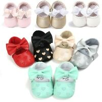 Newborn Baby Infant Girl Crib Pram Shoes Soft Sole Prewalkers Anti-slip Sneakers