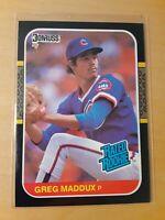 1987 Donruss Greg Maddux #36, Chicago Cubs, SP, HOF, Best of all time, Pitchers.