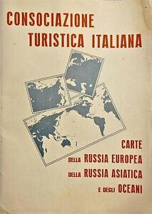 Carte della Russia Europea, della Russia Asiatica e degli Oceani - Anni '40