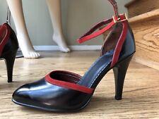 Tango Dance Genuine Leather Black Ladies Heels Sz 6