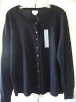 Nice  Basic! Old Navy Lt Wgt Black Crew Neck Cardigan Sweater 1X 2X S M L XL XXL