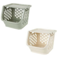 1X(Kitchen Storage Basket Plastic Multi-Functional Hollow Vegetables Fruit P3K2