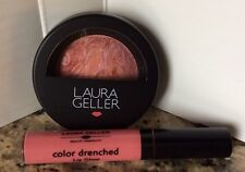 Laura Geller Blush n Brighten Tropic Hues & Lip Gloss French Press Rose Set Lot