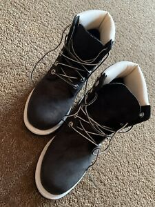 Timberland Lace Up Boots.  Black And White.  Size US 8 Womens.