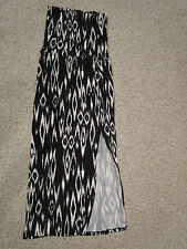 NEW DALIA COLLECTION Black & White Stretch Maxi Skirt/Dress ~ Size M~