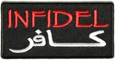 Infidel Arabic Embroidered Military Morale Tactical Army Patch
