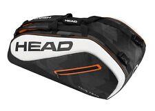 Brand New Head TOUR TEAM  9R SUPERCOMBI Tennis Racquet Bag Black/White 2017