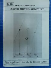 Keith Monks Audio LTD. Microphone Arms & Boom Arms Informationsblatt To874